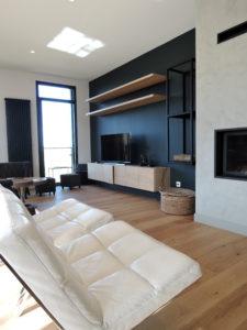 ARTMETA mobilier sur mesure meuble TV et range buches