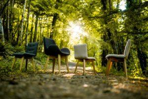 Chaise cocon et chaises capitonnées de fabrication française ARTMETA