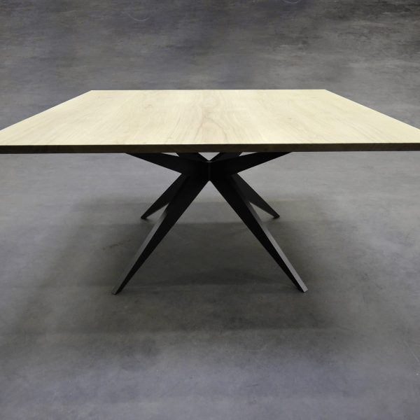 ARTMETA table papillon carrée table bois massif et metal