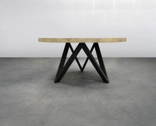 table ronde en bois massif ARTMETA