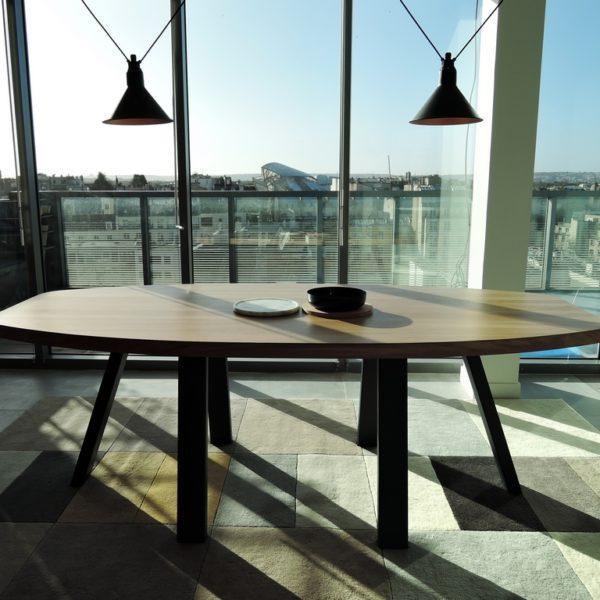 ARTMETA table romulée mobilier sur mesure professionnel bureaux paccard balmat paris
