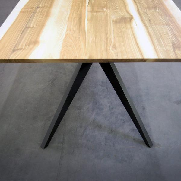 ARTMETA table Papillon / Bois de Frêne olivier