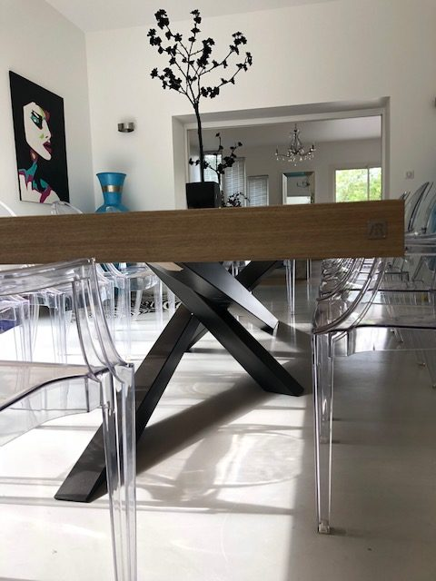 Pied De Table Metal Mikado Fabrication Artisanale Francaise