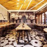 ARTMETA table acier et bois pour canard et champagne à paris