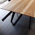 ARTMETA table Amazone artisanale et sur mesure en métal et bois massif