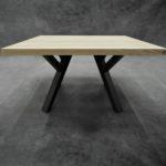 ARTMETA Table Ramage carré en acier et bois massif