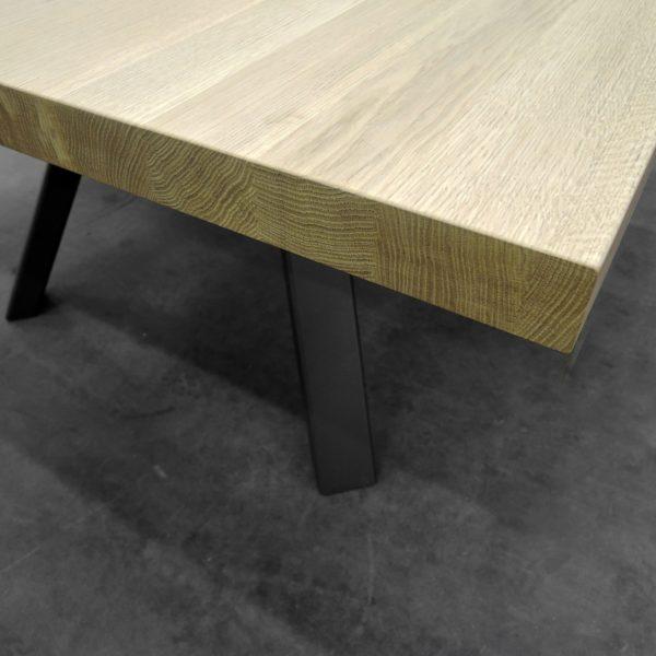 ARTMETA table carrée Ramage en acier et bois massif