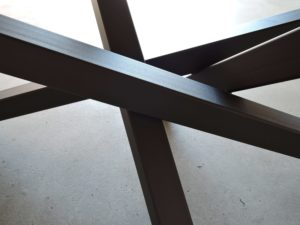 ARTMETA pied de table mikado acier et bois massif
