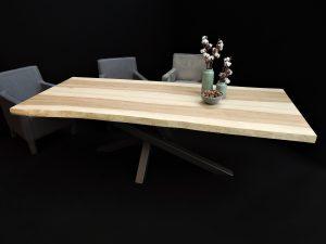 ARTMETA table mikado acier et bois massif