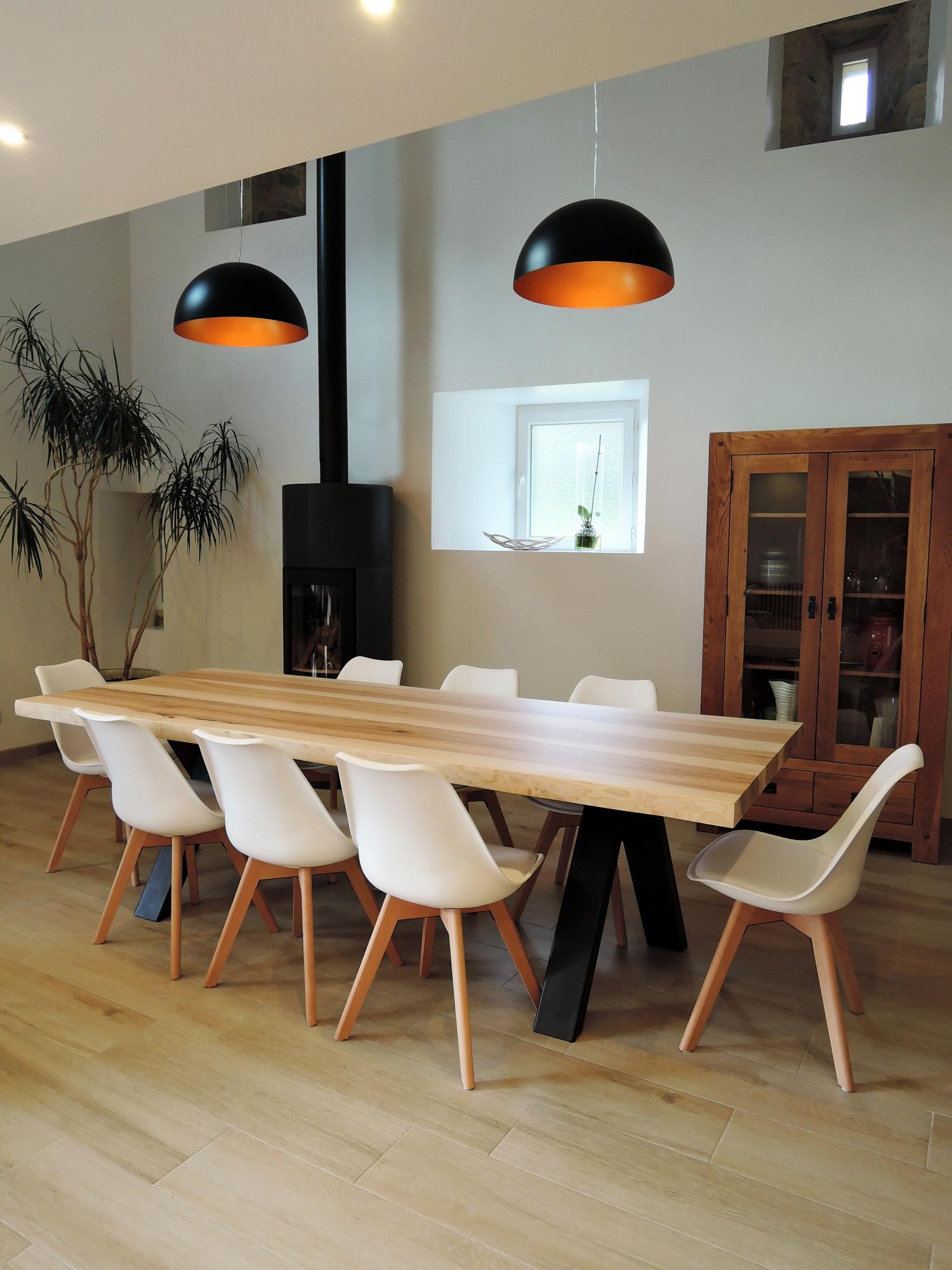 artmeta table viking metal et bois massif 1 copier artmeta. Black Bedroom Furniture Sets. Home Design Ideas