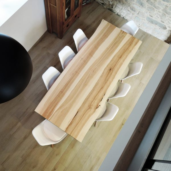 ARTMETA table viking metal et bois massif