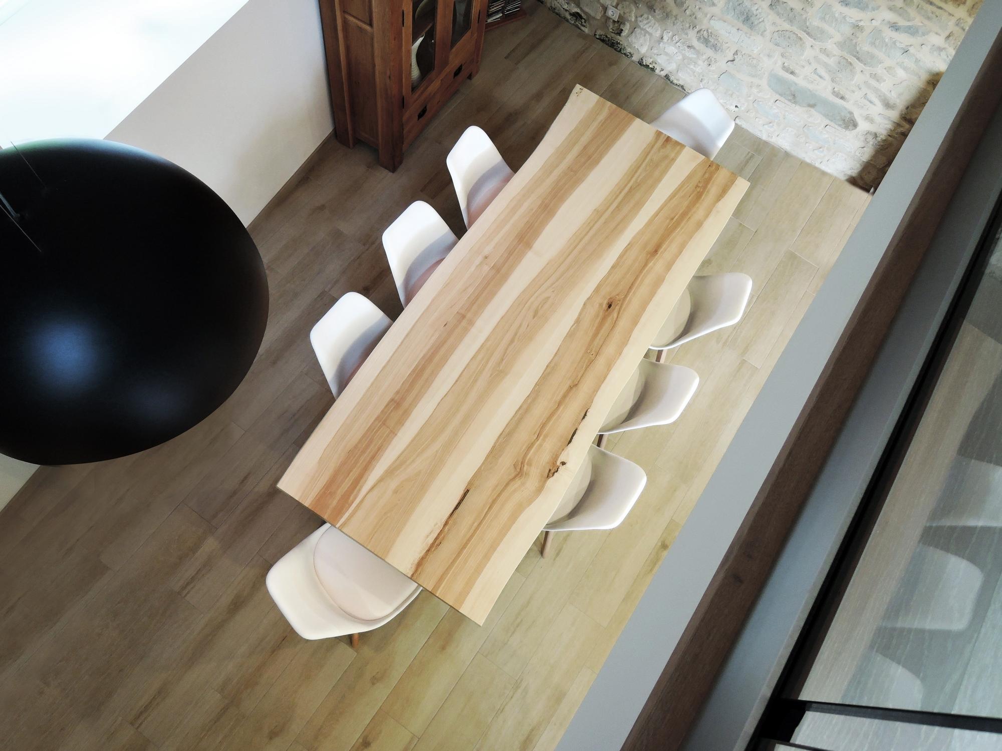 ARTMETA table viking metal et bois massif