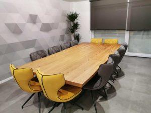 ARTMETA table mikado / 300 x 150 x H 75 cm / chêne naturel et pied noir