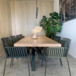 Table Mikado de 3 mètres en chêne massif et pied kaki ARTMETA