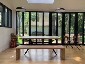 Table Papillon 190x90xH75 cm en frêne olivier ARTMETA