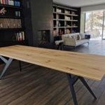 Table Ma Reine / 260 x 90 x H 75 cm / Chêne authentique et pied noir / ARTMETA