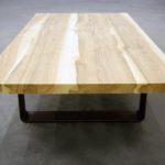 ARTMETA / table basse Ruban en acier et bois massif