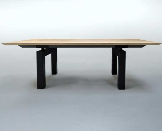 Table acier bois Mecano sur mesure / ARTMETA
