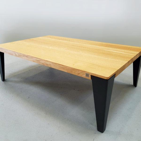 ARTMETA table basse ATELIER acier et bois massif