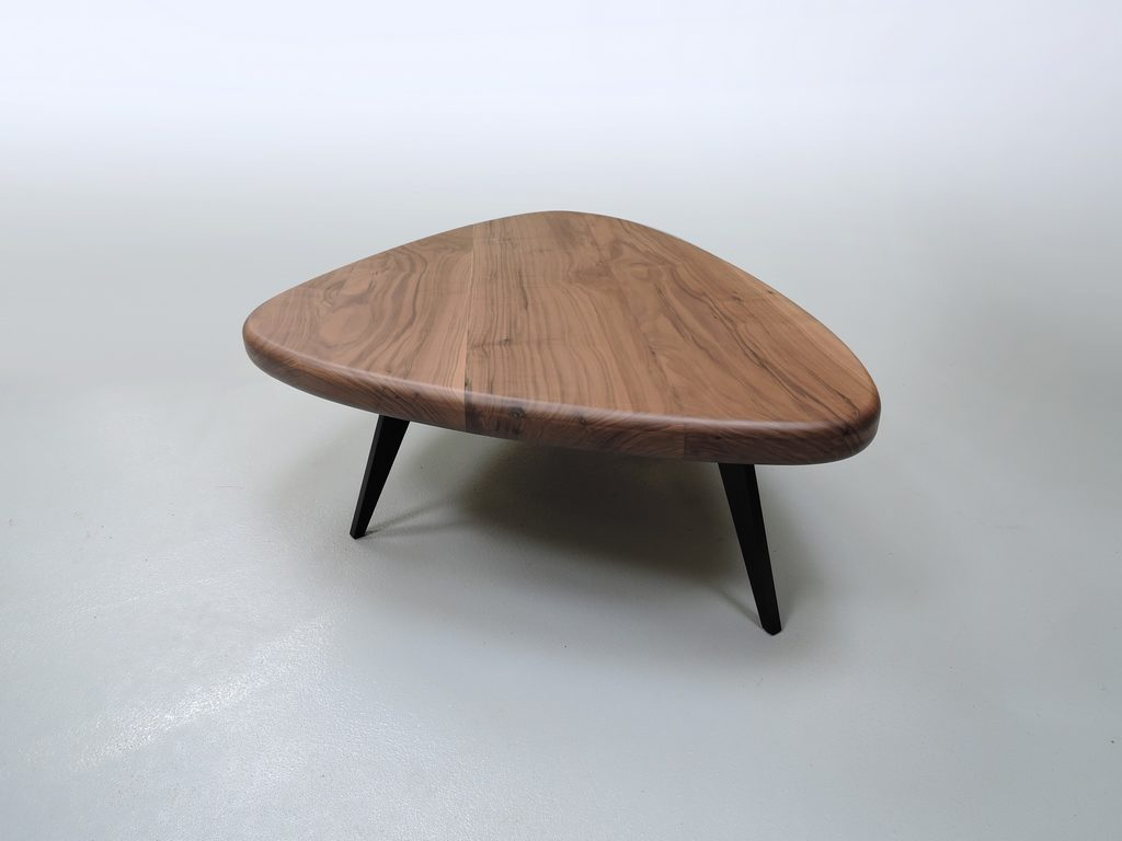 ARTMETA / table basse GALET en métal et bois massif