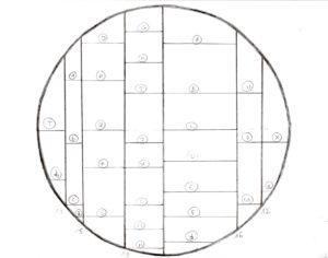 ARTMETA mobilier sur mesure bibliothèque circulaire suspendue
