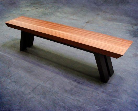 banc papillon bois massif design pur fabrication artisanale. Black Bedroom Furniture Sets. Home Design Ideas