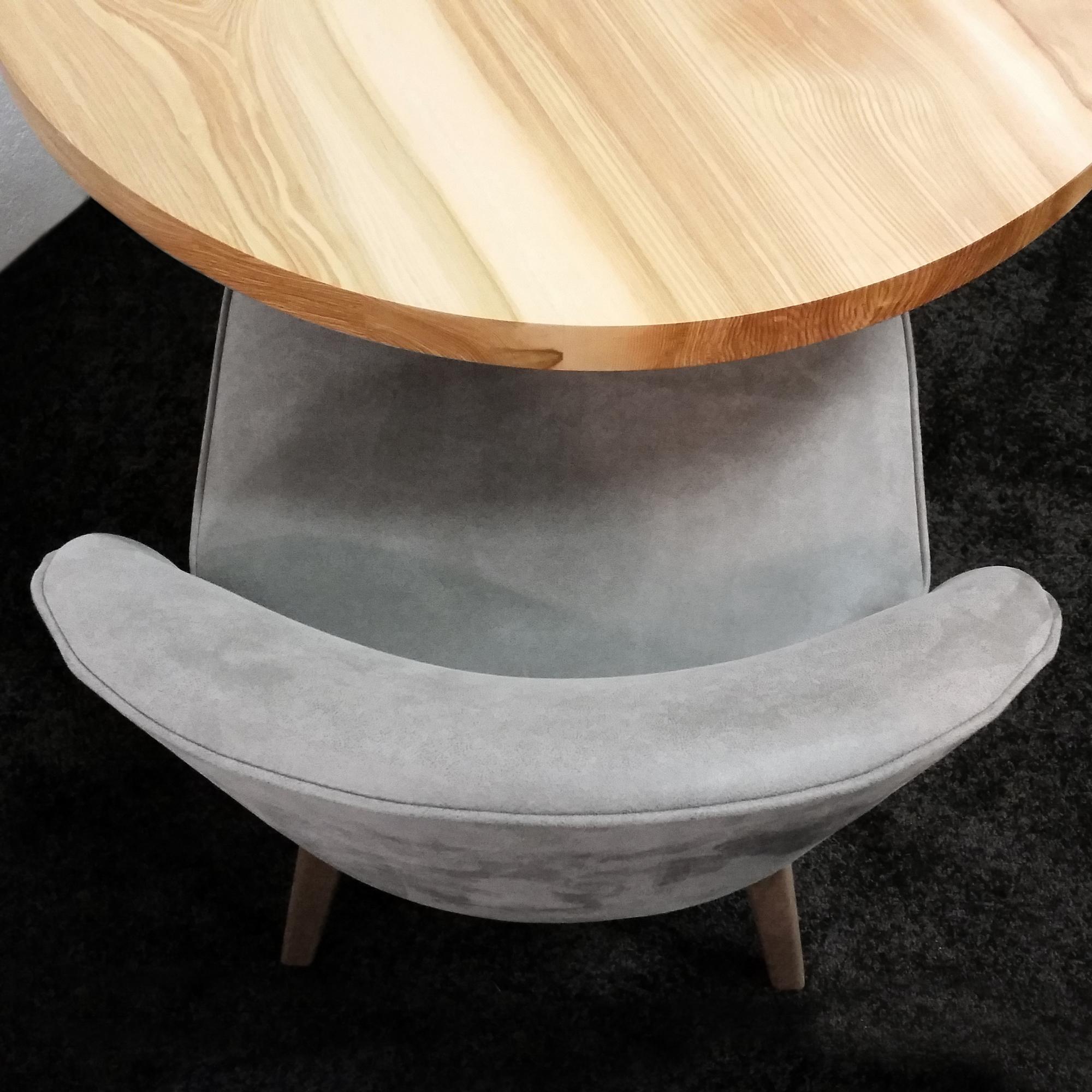 ARTMETA table bistrot ronde métal et bois massif
