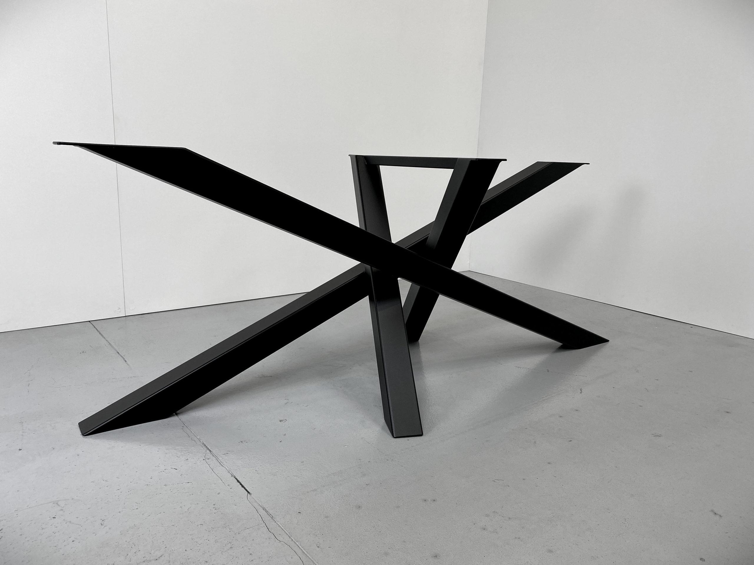 ARTMETA / pied Mikado acier sur mesure / table mikado