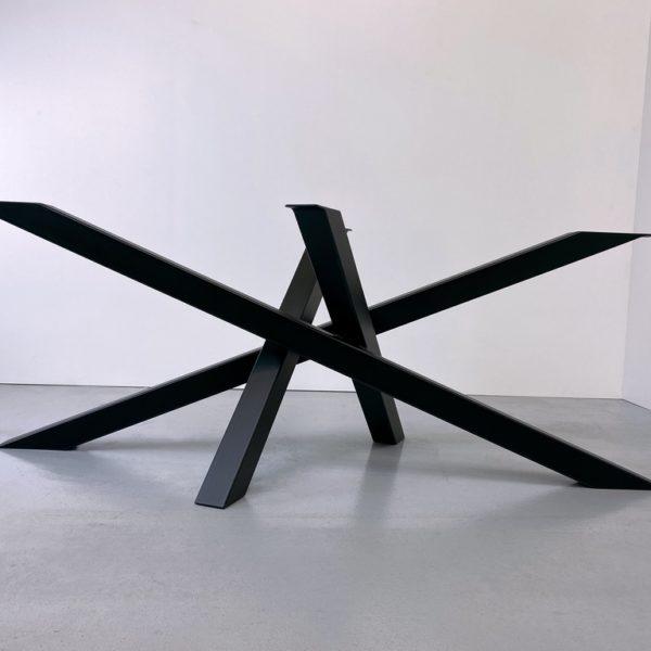 ARTMETA / pied de table métal Mikado sur mesure en acier