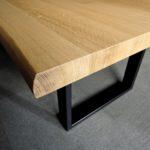 ARTMETA / table Urbaine / finitions en acier et bois massif / fabrication artisanale française et sur mesure