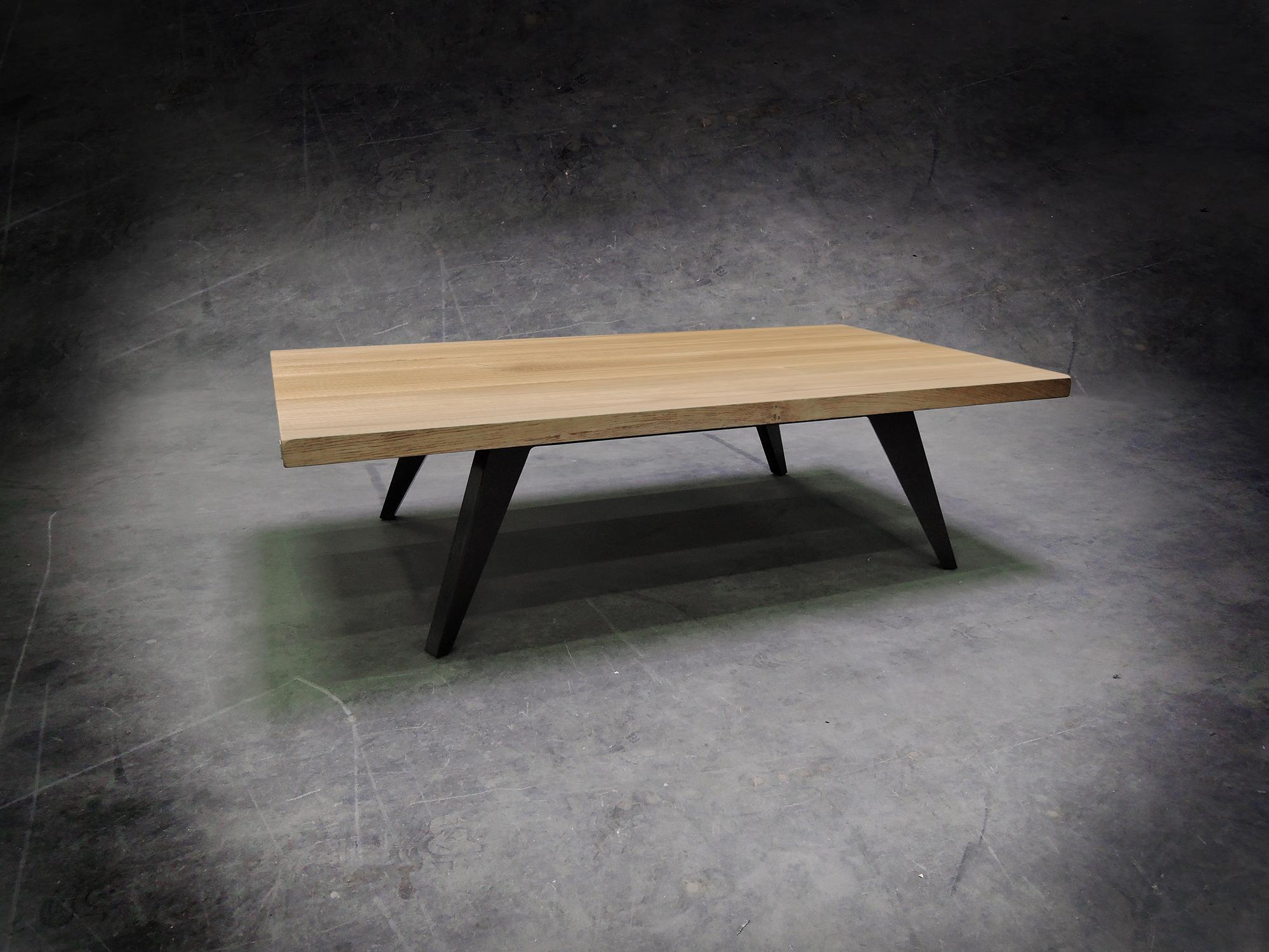 table basse amazone aluminium pleine masse et bois massif. Black Bedroom Furniture Sets. Home Design Ideas