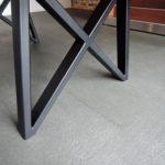 ARTMETA / table gentleman / en acier et bois massif / fabrication artisanale française sur mesure