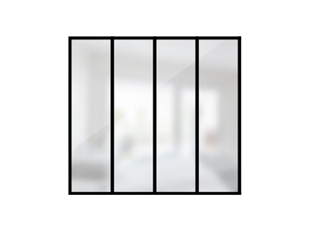 ARTMETA / verrière 4 travées en acier / style atelier