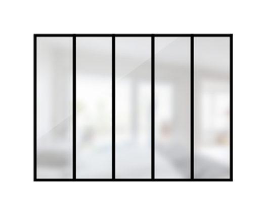 Verrière industrielle 5 travées en acier / style atelier / Artmeta
