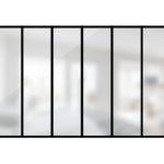 ARTMETA / verrière 6 travées en acier / style atelier