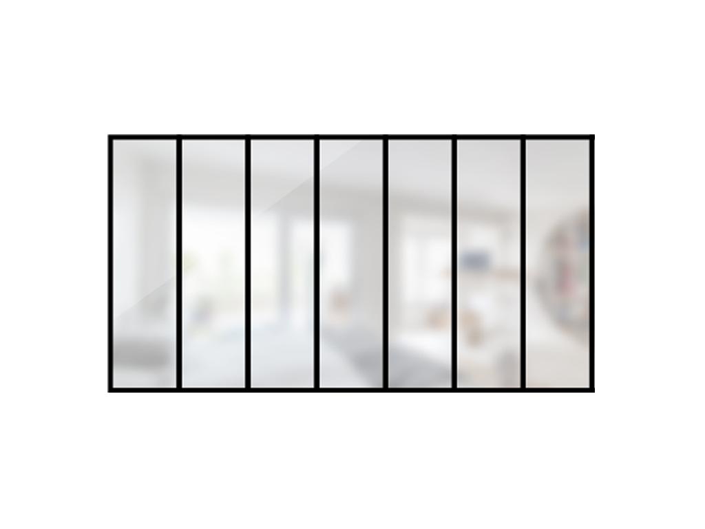 ARTMETA / verrière Verrière 7 travées en acier / style atelier