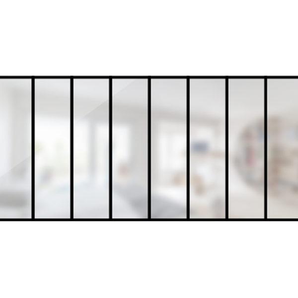 ARTMETA / verrière Verrière 8 travées en acier / style atelier