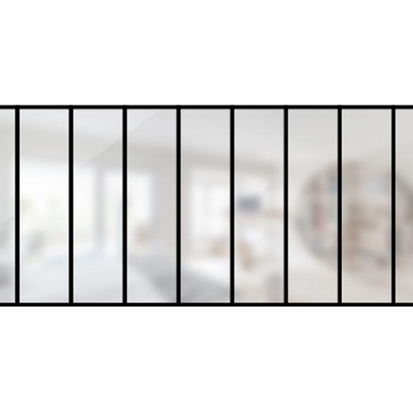 ARTMETA / Verrière 9 travées en acier / style atelier