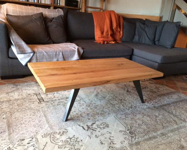 ARTMETA / table basse Amazone / metal et bois massif / mobilier artisanal français et sur mesure
