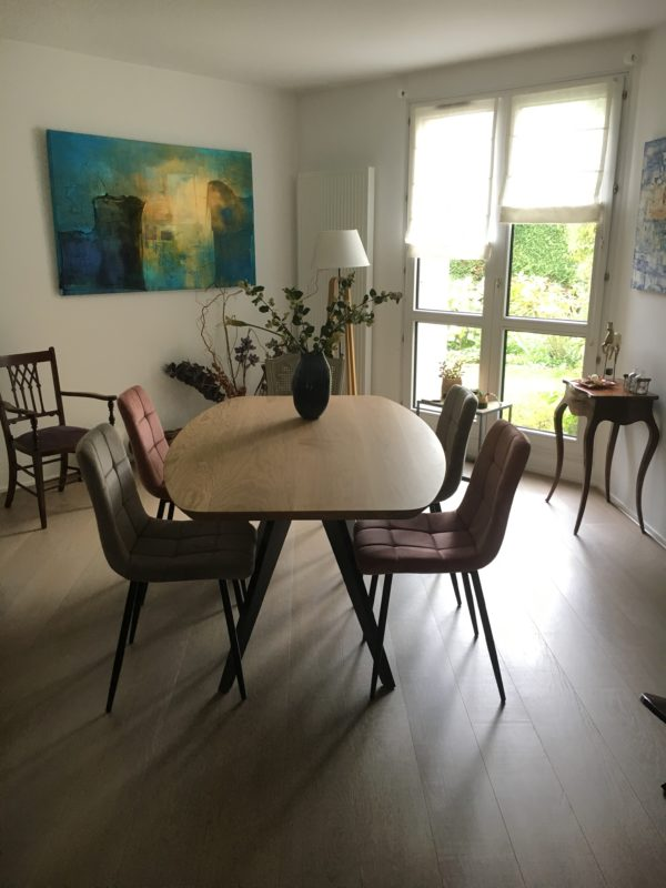Table Méduse 160x90xH75 cm / chêne contemporain