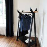 ARTMETA / portant TIPI acier et bois massif