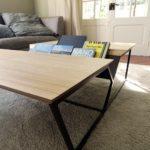 ARTMETA / table basse REVUE en acier et bois massif