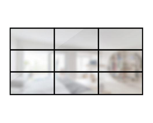 ARTMETA / verrière orangerie 9 verres