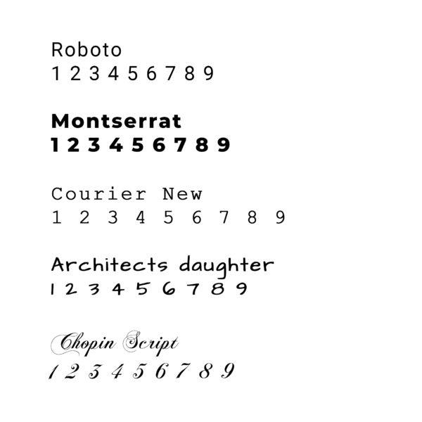 TYPOGRAPHIES numéros de maison