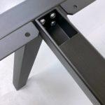 Fabricant de pied de table / ARTMETA / Pied de table Aubier sur mesure en acier