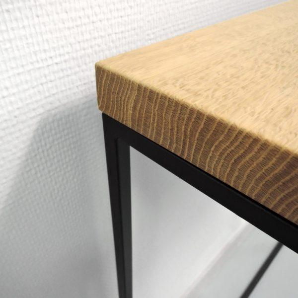 ARTMETA / console Aiguille en acier et bois massif