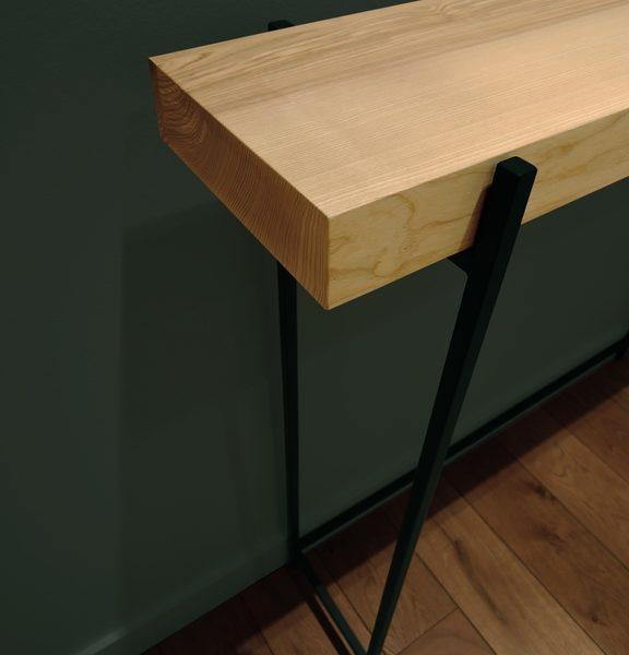 ARTMETA / console Passe partout en acier et bois massif