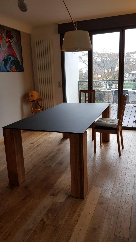 ARTMETA / table Contraste / 200 x 100 cm / chêne naturel authentique et Gris acier