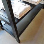 ARTMETA / portant Tipi 2 étagères en acier et bois massif