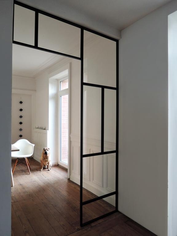 artmeta verri re int rieure en acier art deco artmeta. Black Bedroom Furniture Sets. Home Design Ideas